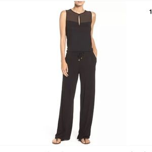 LA BLANCA Black Beach Coverup Jumpsuit Size Large